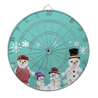 snowman family dartboard