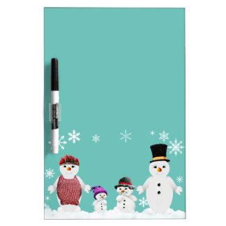 snowman family dry erase board