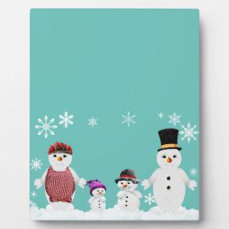 snowman family plaque