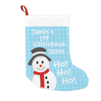 Snowman - First Christmas Small Christmas Stocking
