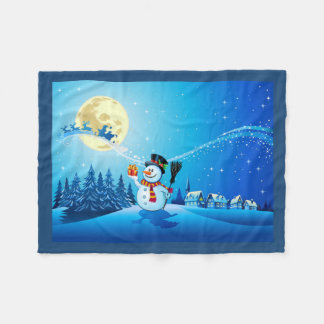 Snowman Fleece Blanket