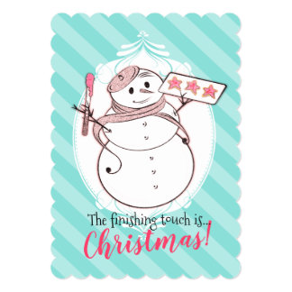 Snowman French bakery cookies Christmas card