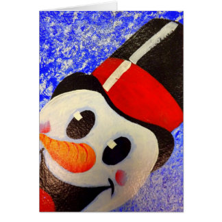 Snowman Frosty Greeting Card