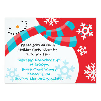 Snowman Fun - Christmas Invitations