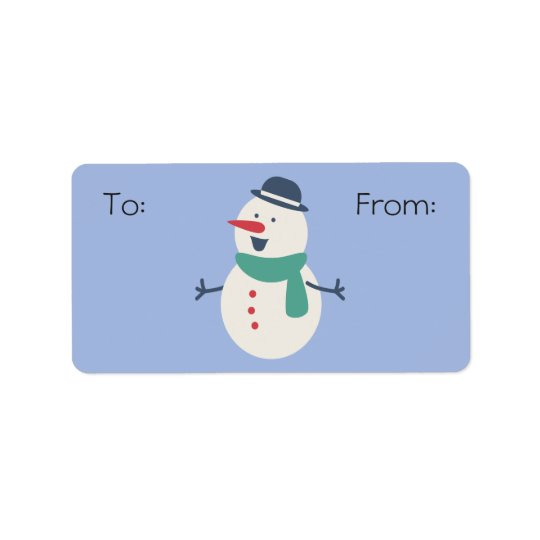 Snowman Gift Label
