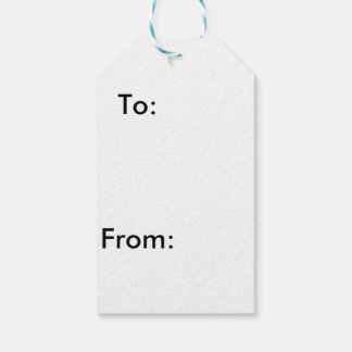 Snowman gift tags pack of gift tags