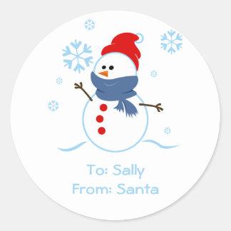 Snowman Gift Tags Sticker