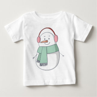 Snowman Girl Baby T-Shirt