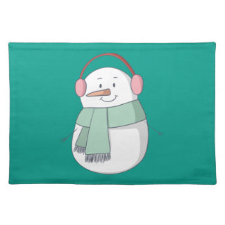Snowman Girl Placemat