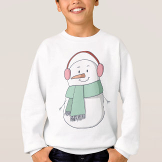 Snowman Girl Sweatshirt