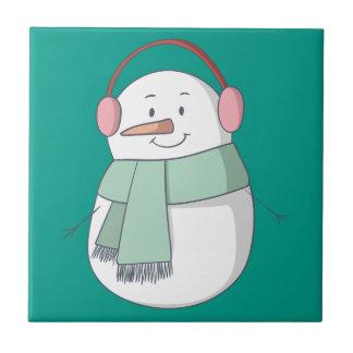 Snowman Girl Tile