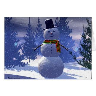 Snowman,  greeting card