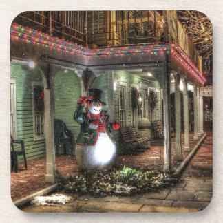 Snowman Greetings Drink Coaster