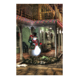 Snowman Greetings Personalized Stationery