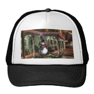Snowman Greetings Trucker Hat
