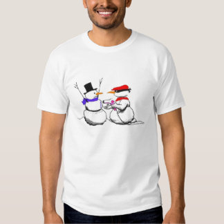 Snowman Gun Point Funny Christmas Shirt