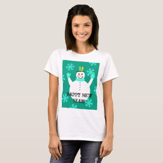 Snowman Happy New Year Women's  T-Shirt