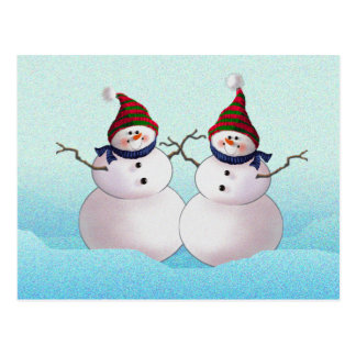 SNOWMAN & HATS by SHARON SHARPE Postcard