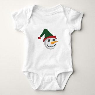 Snowman Head Baby Bodysuit
