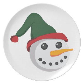 Snowman Head Dinner Plates