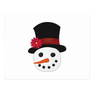 Snowman Head Postcard