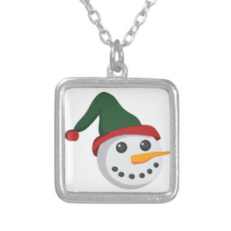 Snowman Head Silver Plated Necklace