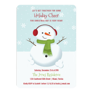 Snowman Holiday Cheer Card