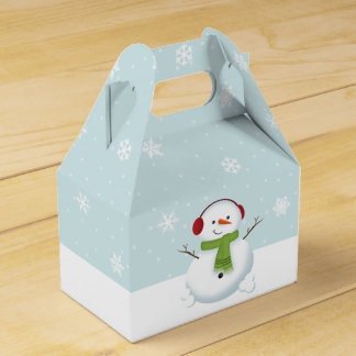 Snowman Holiday Cheer Favor Box