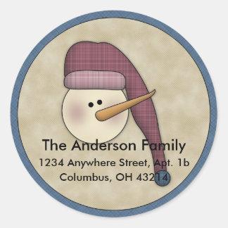 Snowman Holiday D2 Return Address Labels