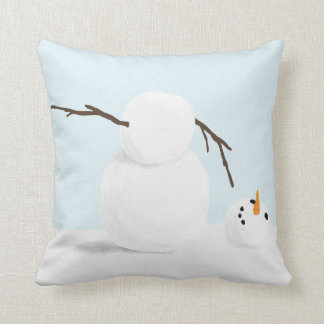 Snowman Holiday Decor, Whimsical Christmas Snowman Throw Pillow