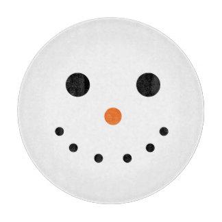 Snowman Holiday Decorative Glass Cutting Board