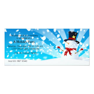 Snowman Holiday Party Invitation