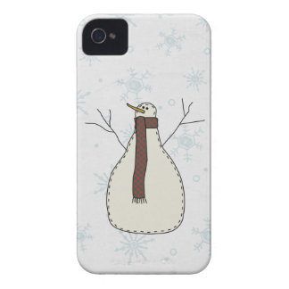 Snowman Holiday Scene Character iPhone 4 Covers