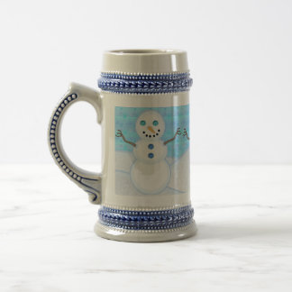 Snowman Holiday Steins