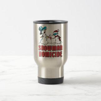 snowman homicide 2 travel mug