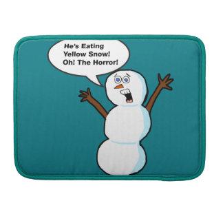 Snowman Humor MacBook Pro Sleeve