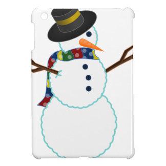 Snowman Illustration Cover For The iPad Mini