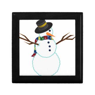 Snowman Illustration Gift Box