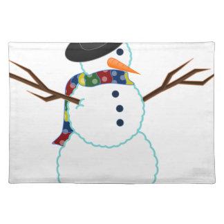 Snowman Illustration Placemat