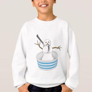 Snowman in a Bowl Eaten with a Spoon Sweatshirt