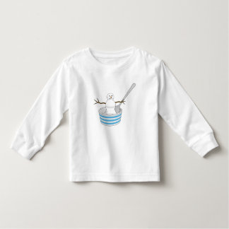 Snowman in a Bowl with a Spoon Toddler T-shirt