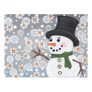 Snowman in a Snowstorm Postcard