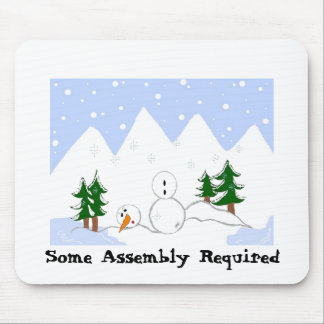 Snowman In Need Mouse Pad