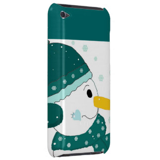 Snowman in Teal Hat and Scarf iPod Touch Case