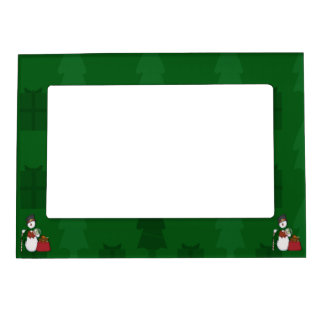 Snowman in Tophat Magnetic Frame