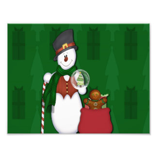 Snowman in Tophat Photograph