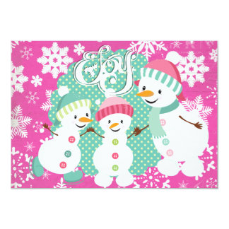 Snowman Joy Holiday Card