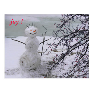 snowman joy postcard
