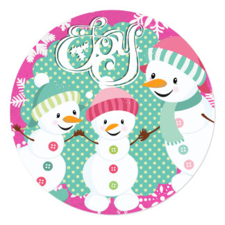 Snowman Joy Winter Holiday Card