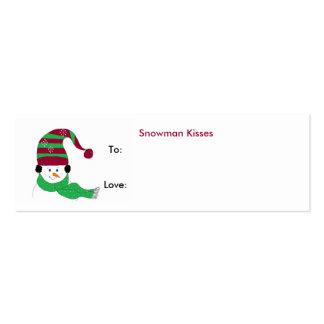 Snowman Kisses - Gift Tag Mini Business Card